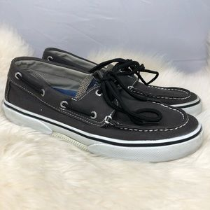 Sperry Top-Siders Gray canvas Mens size 8